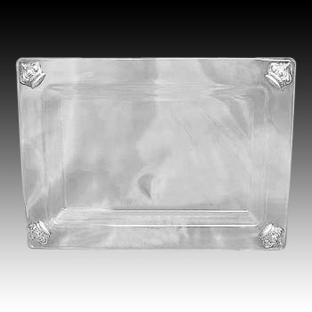 CRYSTAL & SILVER TRAY 4641.