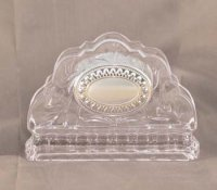 CRYSTAL & SILVER-napkin-holder