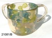 ACRYLIC WASH CUP - LEAVES 21081-b-lpb.