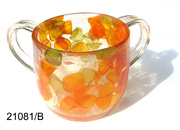 ACRYLIC WASH CUP - LEAVES 21081-b-ly.