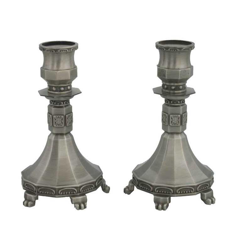 <br>Pewter Candle Sticks 23951P.
