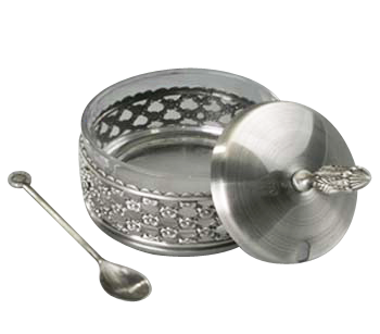 Nickel Honey Dish 32091.