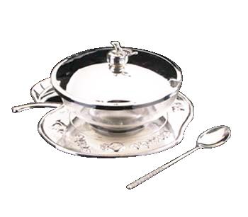 Nickel Honey Dish 40051.