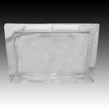 CRYSTAL & SILVER TRAY 40456.