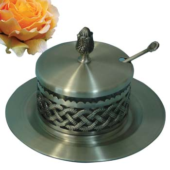 Pewter Honey Dish 52391p.