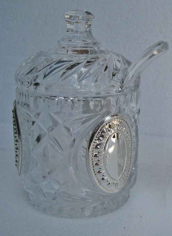 Crystal & Silver Honey Dish (13 cm) 5511.