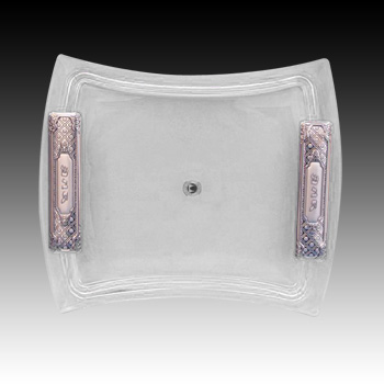 CRYSTAL & SILVER TRAY 8630-2.
