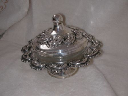 Sterling Silver Honey Dish (122 gr) amn02-122.