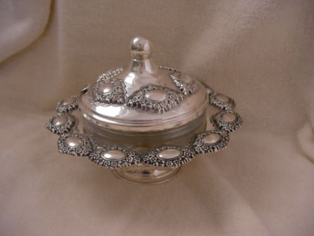 Sterling Silver Honey Dish (126 gr) amn03-126.