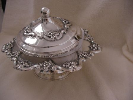 Sterling Silver Honey Dish (173 gr) amn04-173.