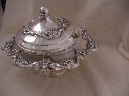 Sterling Silver Honey Dish (173 gr) amn04-173.