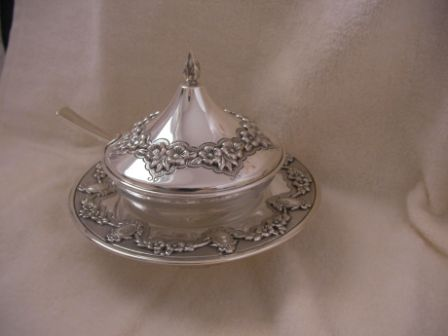 Sterling Silver Honey Dish (160 gr) ms04-160.