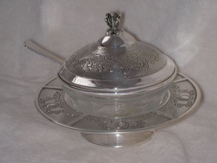 Sterling Silver Honey Dish ms05.