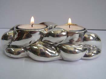 STERLING SILVER CANDLE HOLDER.