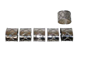 STERLING SILVER NAPKIN RINGS.